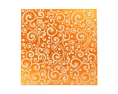 Lillypilly Orange Scrolling Vine Anodized Aluminum Sheet 3