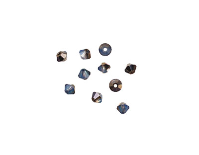 Swarovski White Opal Sky Blue Faceted Bicone 3mm (5301)