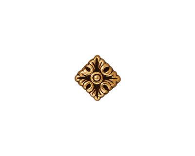 TierraCast Antique Gold (plated) Luna Diamond 11mm