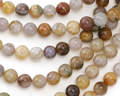 Russian Lace Agate Round 8mm