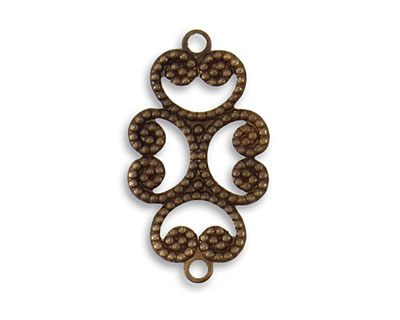 Vintaj Natural Brass Etruscan Swirl Connector 24.5x13.5mm