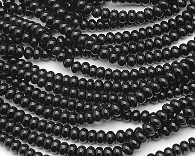 Black Onyx Rondelle 6mm