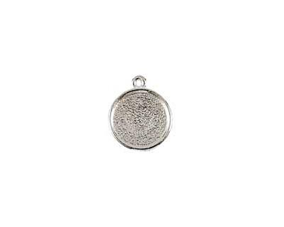 Nunn Design Sterling Silver (plated) Mini Circle Frame Charm 15x17mm