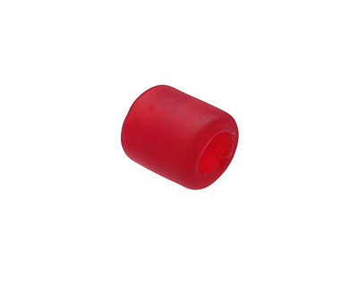 Cherry Red Recycled Glass Large Hole Tube 12mm