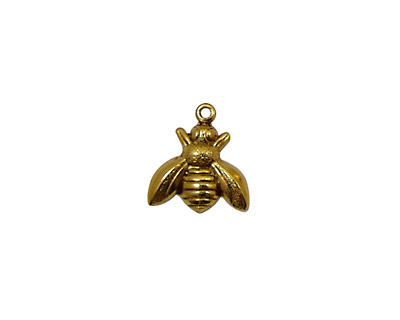 Stampt Antique Gold (plated) Honey Bee Charm 12mm