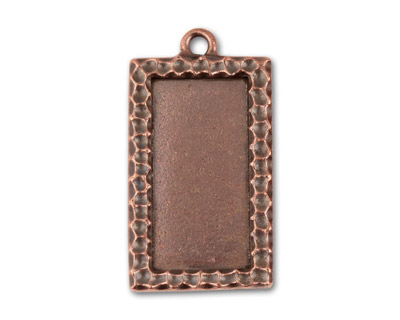 TierraCast Antique Copper (plated) Textured Rectangle 19x35mm