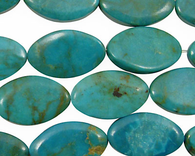 Chinese Turquoise (stab.) Horse Eye 19x12mm