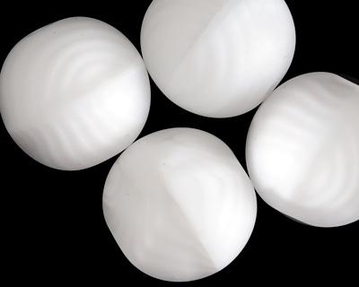 Czech Glass Marbled Arctic White Round Druk 20mm