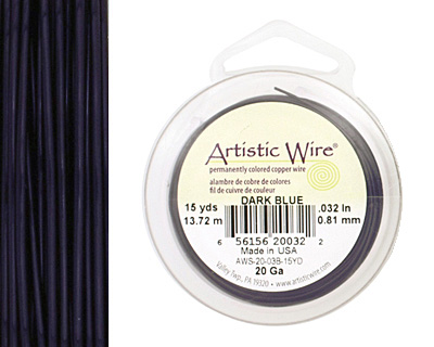 Artistic Wire Dark Blue 20 gauge, 15 yards