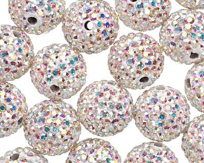 Crystal AB Pave (w/ Preciosa Crystals) Round 12mm