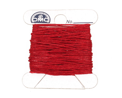 Country Red Irish Waxed Linen 2 ply