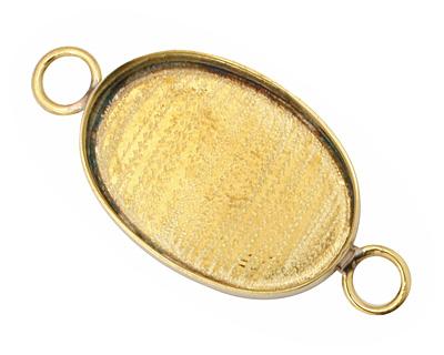 Brass Oval Bezel Link 29x20mm