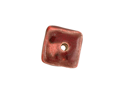 Jangles Ceramic Red Small Square Disc 15mm