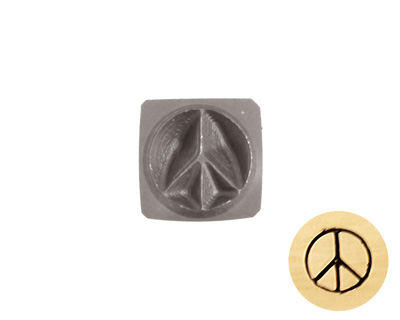 Peace Metal Stamp 5mm