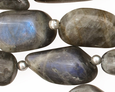 Labradorite Tumbled Nugget 22-34x11-15mm