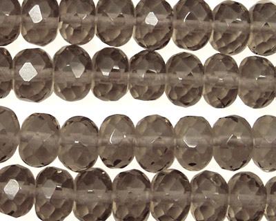 Smoky Quartz Faceted Rondelle 10mm