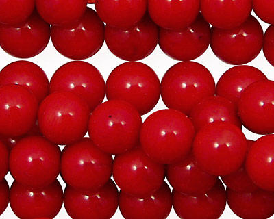 Red Coral Round 8mm