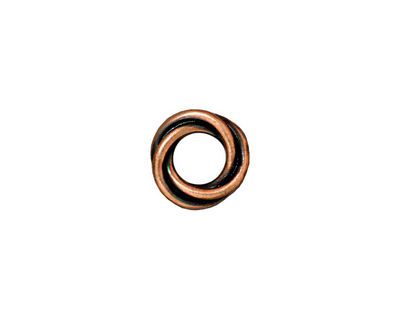 TierraCast Antique Copper (plated) Twisted Spacer 2x12mm