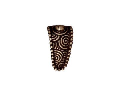 TierraCast Antique Brass (plated) Large Spiral Pinch Bail 9x16mm
