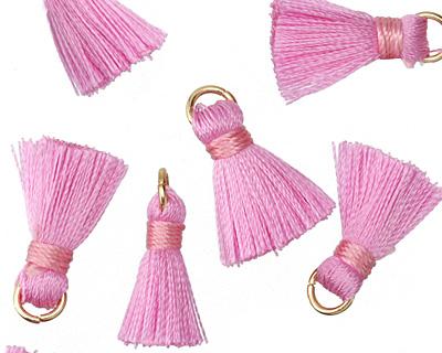 Pink w/ Jump Ring Thread Tassel 17mm