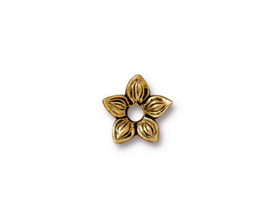 TierraCast Antique Gold (plated) Star Jasmine Rivetable 12mm