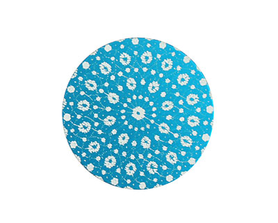 Lillypilly Turquoise Crochet Anodized Aluminum Disc 25mm, 24 gauge