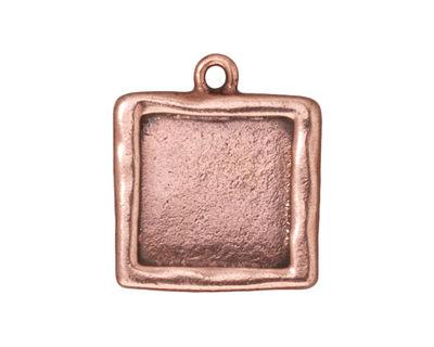 TierraCast Antique Copper (plated) Large Square Frame Drop 21x25mm