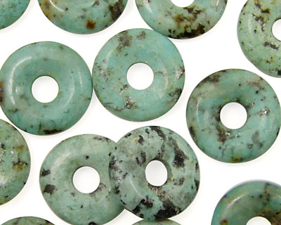 African Turquoise Donut 14-15mm