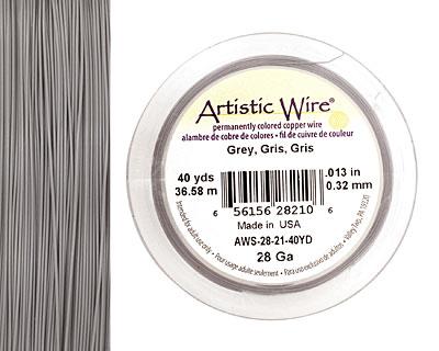 Artistic Wire Grey 28 gauge, 40 yards