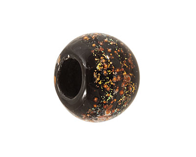 Unicorne Beads Dark Magic w/ Copper Large Rondelle 20x30mm