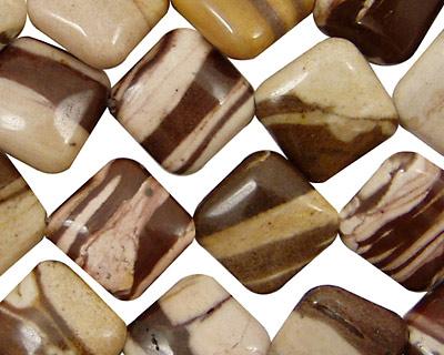 Brown Zebra Jasper Diamond 14mm