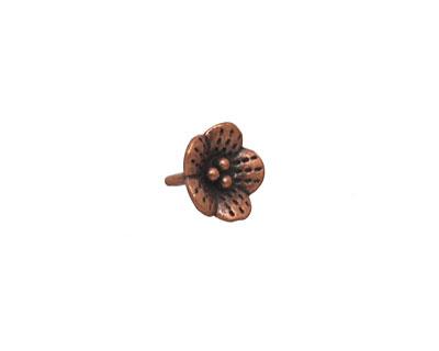 Antique Copper (plated) Buttercup Dangle 10mm