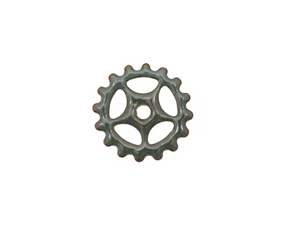 C-Koop Enameled Metal Steel Gray Small Sectioned Gear 16mm
