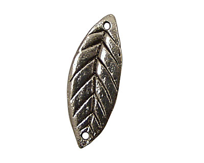 Green Girl Pewter Love Life Leaf 32x12mm