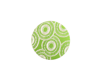 Lillypilly Lime Green Dandelion Anodized Aluminum Disc 19mm, 24 gauge