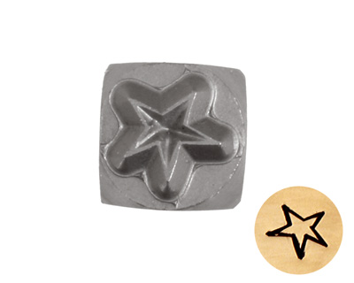 Whimsical Star Metal Stamp 5mm