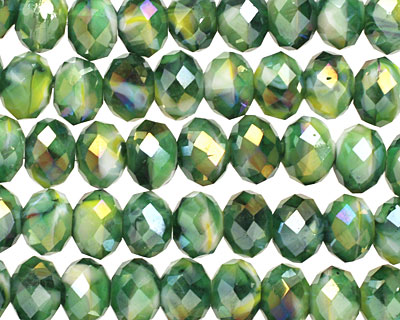 Aloe Crystal Faceted Rondelle 8mm