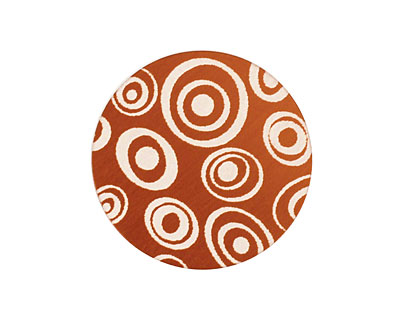 Lillypilly Bronze Groovy Circles Anodized Aluminum Disc 25mm, 24 gauge
