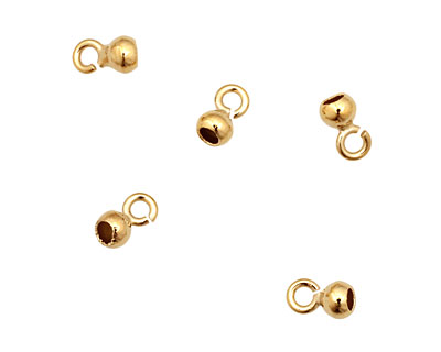 WireLace Gold (plated) Bell End Cap 4mm