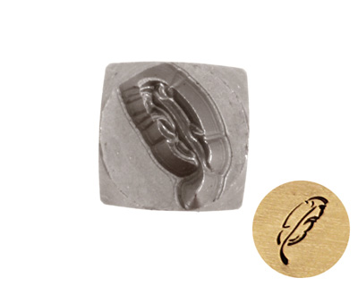 Feather Metal Stamp 6mm