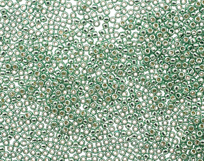 TOHO Galvanized Mint Green Round 15/0 Seed Bead