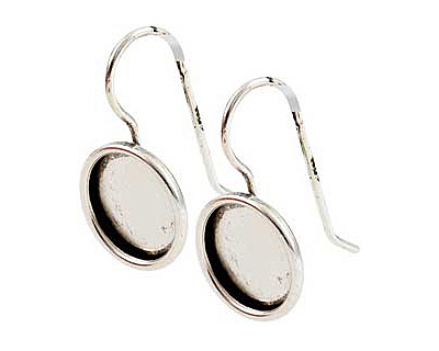 Nunn Design Antique Silver (plated) Small Circle Frame Earring 13mm
