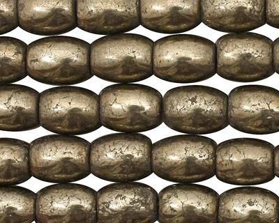 Golden Pyrite (silver tone) Rice 10x8mm