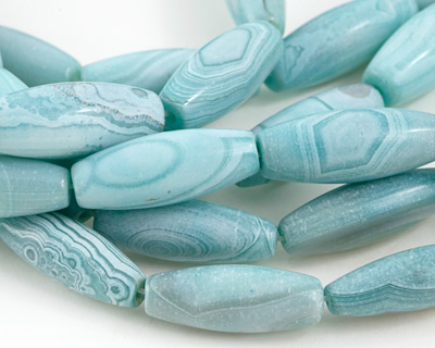 Aqua Terra Agate Rice 28-30x9-10mm