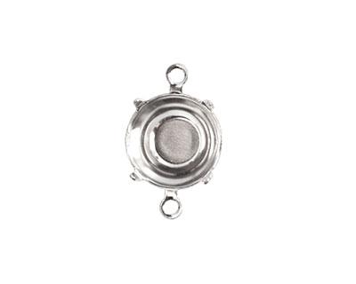 Nunn Design Sterling Silver (plated) Circle Prong Setting 18x12mm