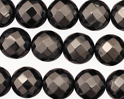 Hematite Faceted Round 12mm