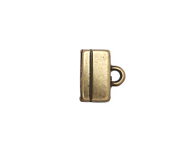 Antique Brass (plated) Rectangle Loop End 10x12mm
