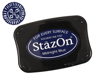 StazOn Midnight Blue Solvent Ink Pad