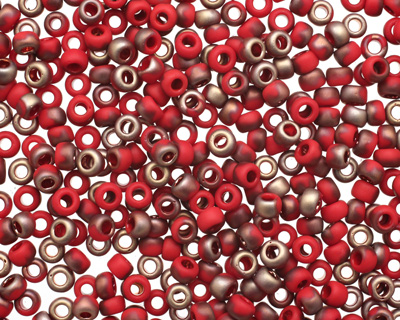 TOHO Frosted Pepper Red Apollo Hybrid Round 8/0 Seed Bead
