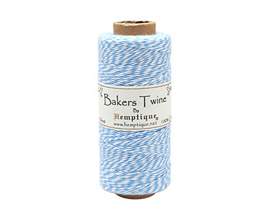 Light Blue/White Bakers Twine 2 ply, 410 ft